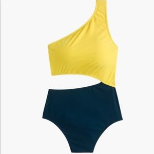 J.Crew one-shoulder cutout one-piece swimsuit